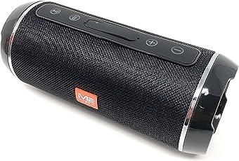 M2 Spritzwasserfester Soundbox Musikbox Handybox Radio Tragbarer Bluetooth-Lautsprecher mit Außerordentlich Kraftvollem Klang inkl. Freisprecheinrichtung- Schwarz
