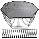"""YGCASE Universal Dog Playpen Top Cover, Provide Shade and Security for Outdoor and Indoor, Fits All 24"""" Wide 8 Panel Pet Exer"""