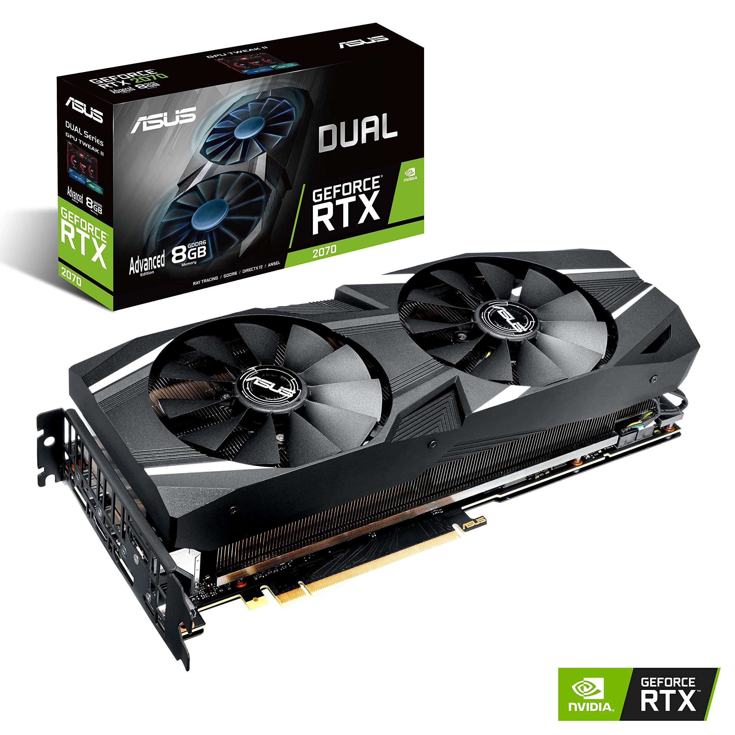 Asus VGA-ASU-2070-A8G Carte Graphique Nvidia Geforce RTX 2070 8G 1410 MHz PCI Express