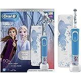Oral-B Kids Spazzolino Elettrico Ricaricabile, 1 Manico con Personaggi Disney Frozen 2, 1 Custodia da Viaggio, dai 3…