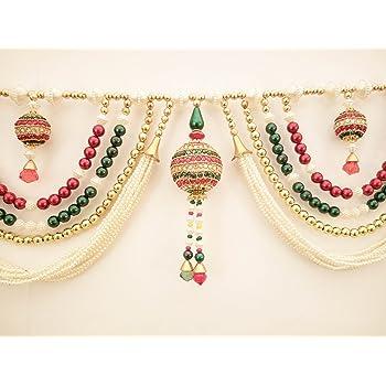 Jay Maharaj Home Decor Traditional Multi Zula Pearl Beads Handmade Door Hanging