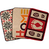 Saral Home Red Home Printed Jute Doormat Set of 3-40x60 Cms