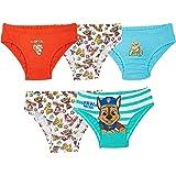 Paw Patrol Intimo Mutande Bambino Stampa Mighty Pups, Confezione da 5 Slip Bimbo Intimo 100% Cotone, Abbigliamento Bambini 18