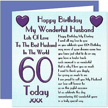 Husband 60th Happy Birthday Card
