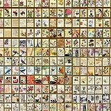 800pcs Papier de scrapbooking vintage,Papier Crapbook Papier Décoratif,Utilisé pour Fait à la Main,Papier Décoratif Recto-Ver