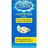 Optrex Hayfever Relief 2 Percent W/V Eye Drops Sodium Cromoglicate, Hayfever Eye Drops, 10 ml