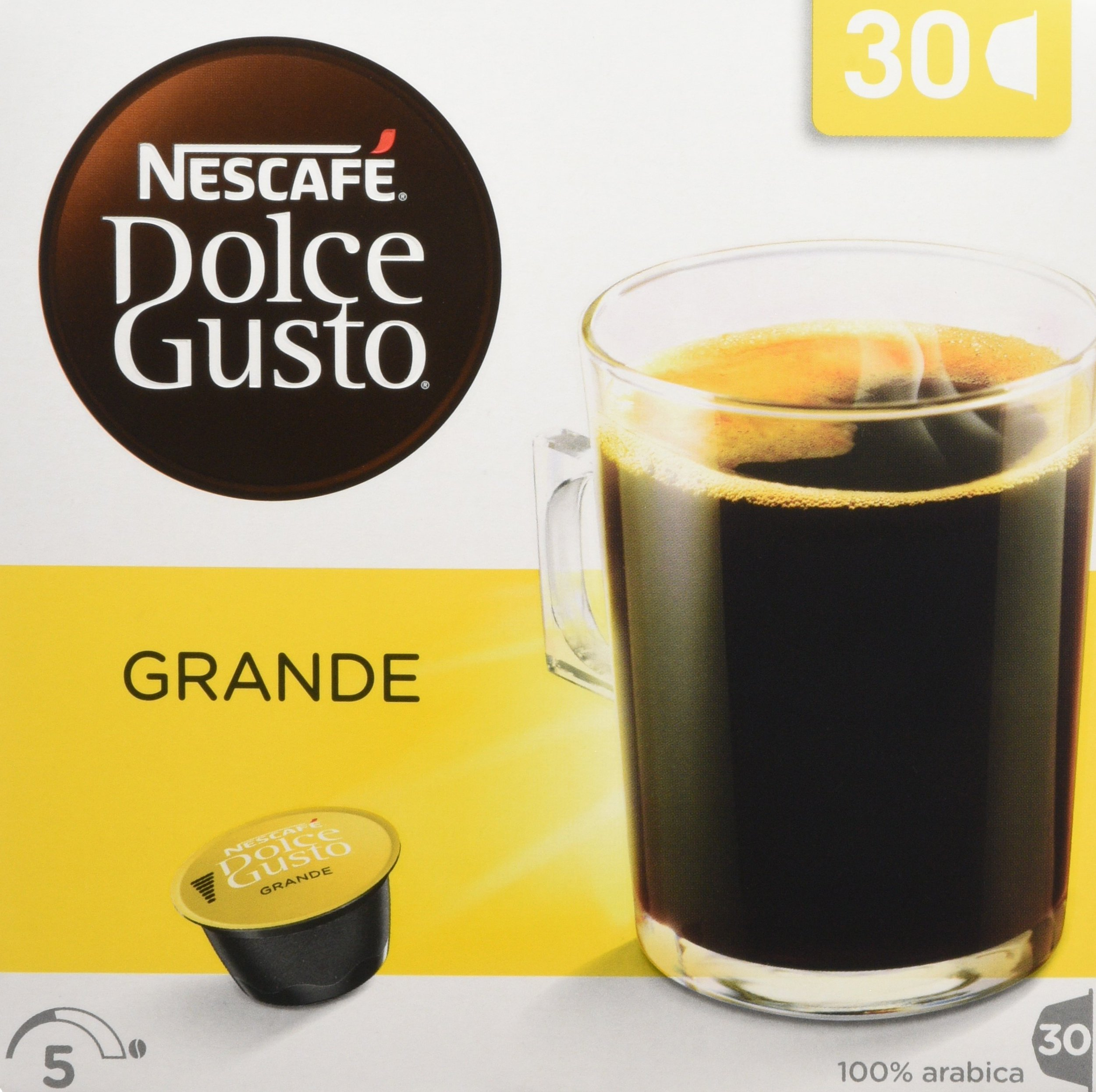 Nescafé Dolce Gusto Lungo coffee pods and capsules (a citrus fruit coffee with aromas of dried fruit and citrus fruit)