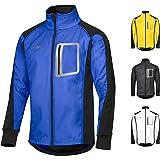 CYCLEHERO Giacca da Ciclismo da Uomo (Diverse Misure e Colori), Impermeabile, Softshell, per Ciclismo e Jogging, con Grandi C