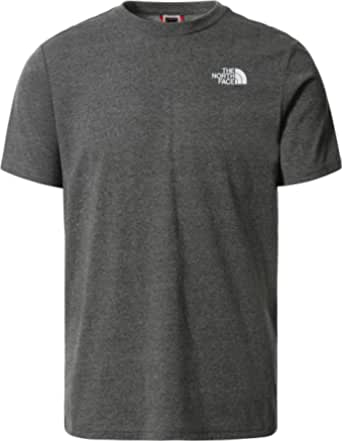 The North Face - Graphic 4 T-Shirt for Men - Standard Fit Tee - Crew Neck, Grey Heather, M