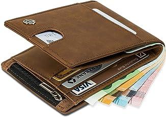 Geldbörse mit Münzfach - 11 Kartenfächer RFID Schutz - Ideal als Geschenk für Herren - Geldbeutel braun mit Edler Geschenkbox – Bear