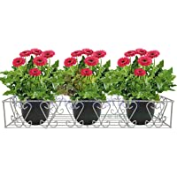 D&V ENGINEERING - Creative in innovation Metal Railings Pot Stand/Flower Plant Display Stand for Multiple Plants Garden…
