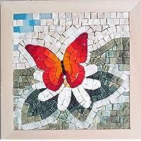 Set mosaico fai da te Quattro Stagioni Primavera 23x23 cm - Tessere mosaico marmo e vetri di Murano-Venezia - Kit hobby…