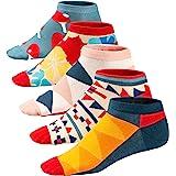 Ueither Calze da Uomo Coloratissimi in Cotone Stilisti Sportive Sneaker Calzini Corti Fantasia dal Design Comodo