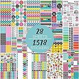 Autocollants - 28 feuilles/1378 autocollants, Stickers pour la planification ou la décoration de agenda, laptops, bagages.