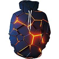 TUONROAD Felpe Uomo 3D Stampato Colorate Hoodie Pullover Vello Felpe con Cappuccio con Tasche S-XXL