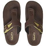 Walkaroo Men's Brown Flip-Flops (14534)