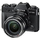 Fujifilm X-T20 Systemkamera mit XF18-55mm Objektiv Kit (Touch LCD 7,6cm (2,99 Zoll) Display, 24,3 Megapixel APS-C X-Trans CMOS III Sensor) schwarz