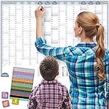A1 Calendario da parete 2021 CAMPIONE, DIN A1+ (89x63 cm) | 228 Sticker/Adesivi per tutte le occasioni e gli…