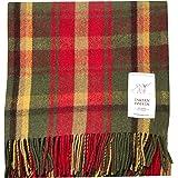 Tartan Tweeds Coperta in pura lana, per picnic, acero scuro