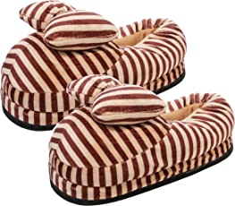CASON Girl's Warm Winter Indoor Slippers, Fits Indian Size 5-8 (Multicolour)