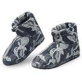 Dunlop Zapatillas Casa Hombre, Pantuflas Hombre Altas para Casa, Zapatillas Hombre Bota para Interior Exterior, Regalos para