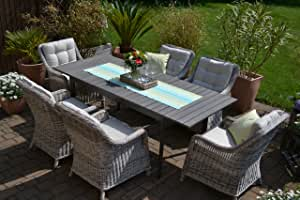 Amazon.de: bomey Rattan Lounge Set I Gartenmöbel Set Como