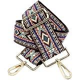 BENAVA Taschengurt Boho Muster Schulterriemen für Taschen 75-135cm mit Karabiner in Farbe Gold | Schultergurt für Taschen mit