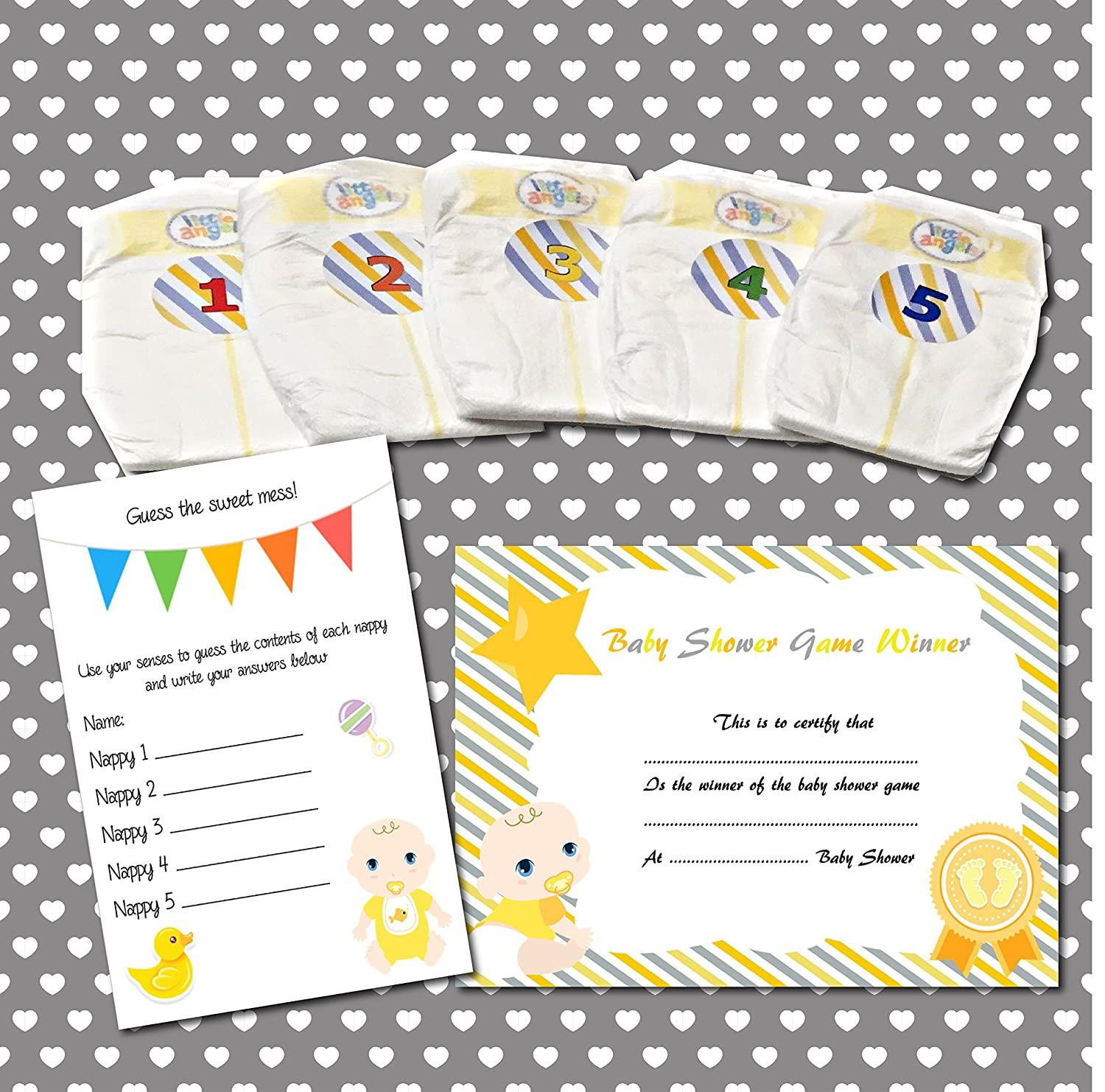 Dirty Nappy Baby Shower Game 10 20 30 Players Girl Boy Neutral