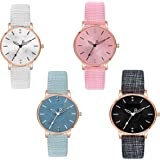 Watch City Formal Analogue Women's Watch(Multicolour Dial & Black Colored Strap)-JE-958