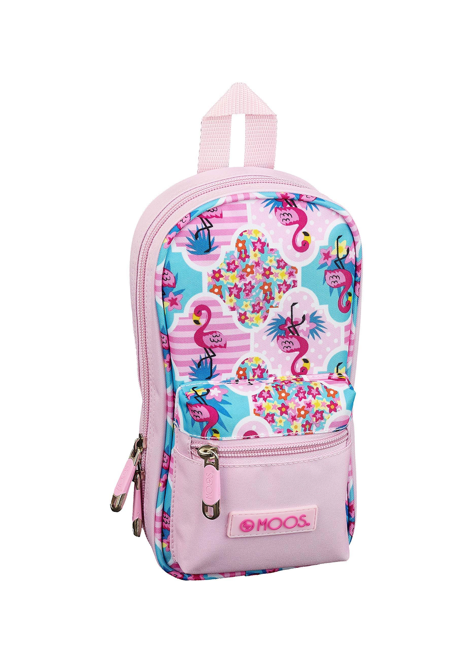 Moos  Flamingo Pink Oficial Neceser Con 4 Estuches y útiles 120x50x230mm
