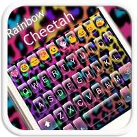 Rainbow Cheetah Emoji Keyboard Theme