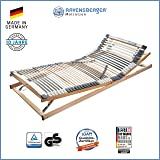 RAVENSBERGER MEDIMED® 44-Leisten 7-Zonen-BUCHE-Lattenrahmen | Verstellbar | MADE IN GERMANY - 10 JAHRE GARANTIE | TÜV/GS + LGA/QS - zertifiziert 90x200 cm