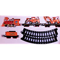 Limitless Shopping Train Engineering Series with Container, JCB, 12 Piece Train Play Set Emits Smoke (19021B…