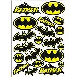 Biomar Labs® Set (20st) Vinyl Stickers Decals Batman Logo Embleem Comics Hero Auto Motorfietshelm D 55