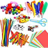 WATINC 800Pcs DIY Art Craft Sets Supplies for Kids Toddlers Modern Kid Crafting Supplies Kits Include Pipe Cleaners…