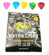 Mustang Guitar Picks And Accoustic Guitar Strings (Extra Light)