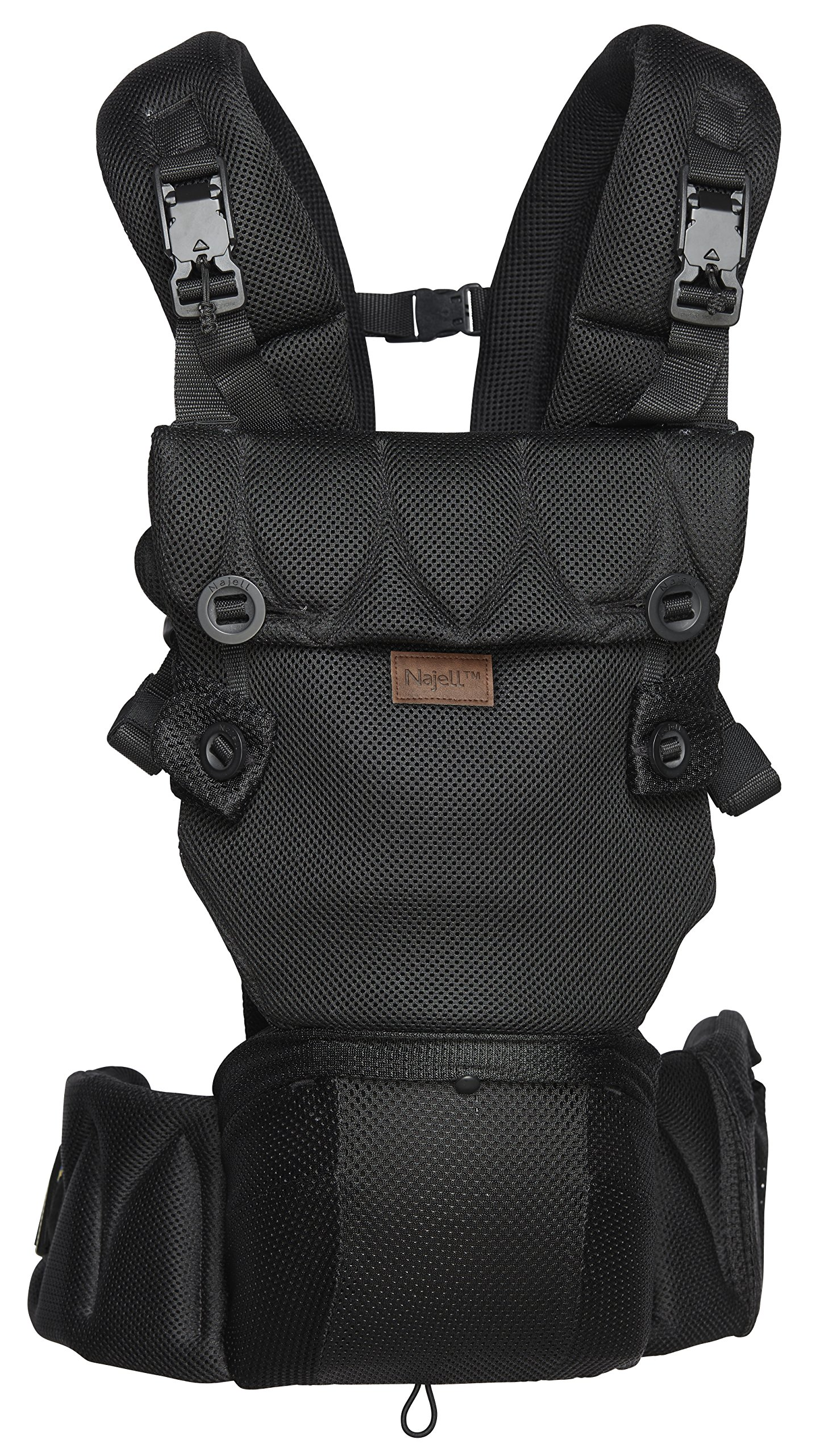Najell Omni Active Mesh Baby Carrier with Hip Seat, Brilliant Black Béaba New-born ergonomic position and hips seat from 6 months. Market leading weight distribution with hip seat, recommended by the international hip dysplasia institute as a hip-healthy baby carrier Weight: 3, 5 to 15 kg and age: new-born to 3 years. 1