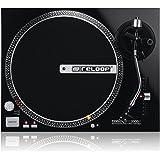 Reloop RP-2000M – DJ Plattenspieler mit quarzgesteuerten Direktantrieb und Phono-/Lineausgang, (schwarzmetallic)