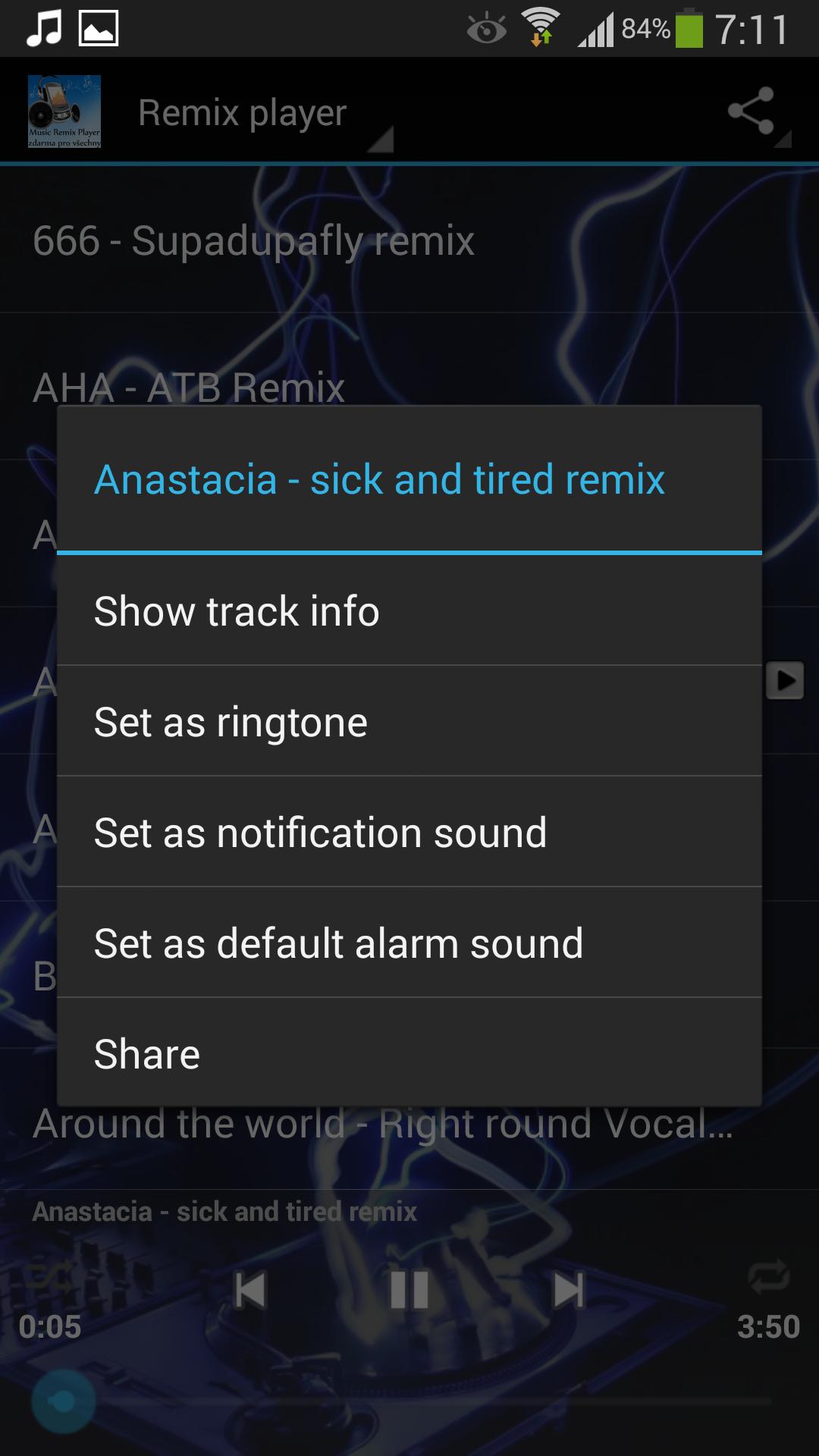 Music player - Remix Screenshot