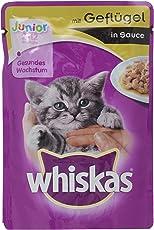 Whiskas Katzen-/Nassfutter Junior für junge Katzen, 24 Portionsbeutel (24 x 100 g)