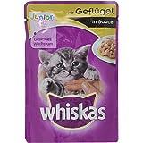 Whiskas Junior Cat Food - Hoogwaardig natvoer voor gezonde vacht - Natvoer in verschillende smaken