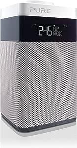 Pure POP Midi Digitalradio (DAB/DAB+ Digital- und UKW-Radio, Pop-Taste zur Lautstärkenregelung, Weckfunktionen, Küchen- und Sleep-Timer, 20 Senderspeicherplätze, AUX), Weiß