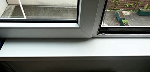 250 mm greenteQ Fensterbank Innen Innenfensterbank Fensterbrett Marmor 500mm Seitenabschlu/ß