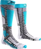 X-Socks Damen SKI Rider 2.0 Lady Socken, Grey Melange/Turquoise, 37/38