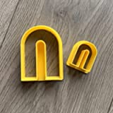 SET of FOUR Arched pendant polymer clay cutters