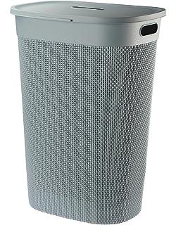 Wäschebox Wäschesammler Wäschekorb Wäschebehälter Wäschetruhe Rattan Optik 60 cm
