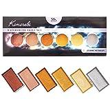 MozArt Supplies Komorebi japanisches Aquarellfarben Set – 6 Aquarell Wasserfarben Metallic Farbtönen – Aquarellmalerei Farben für Künstler, Anfänger und Profis – sehr hoher Pigmentierung