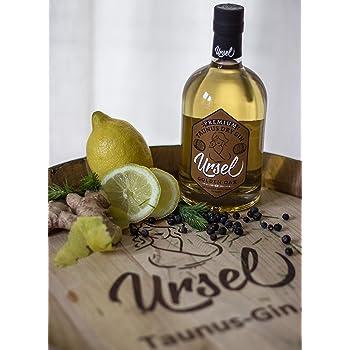"""Premium Taunus Dry Gin""""Ursel"""" Golden Oak - Fassgereifter Gin mit frischen Wald- und Zitrusnoten – Im Ungarischen Eichenfass gereift"""