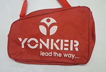 Ek Retail Shop Bag Suitable Size for Adjustable Skates and Shoe Skates - RED Color