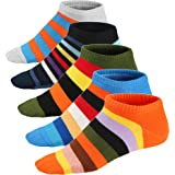 Ueither Mens Low Cut Colorful Dress Socks Funky Ankle Socks 6.5-11.5